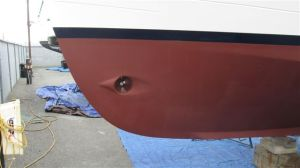 Port bow, after painting