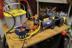Testing the Superwinch, battery, and battery charger