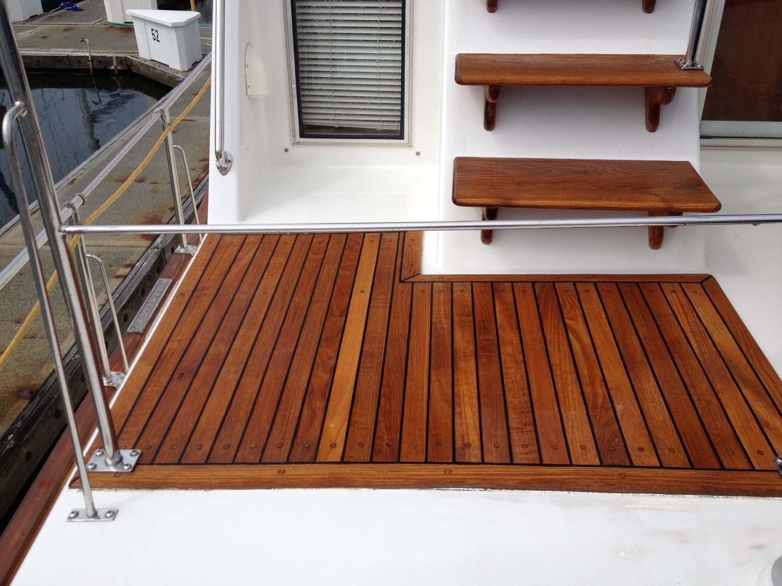 Boat Decks Teak Teak on Boat Deck…after