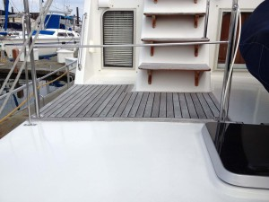 Teak deck before