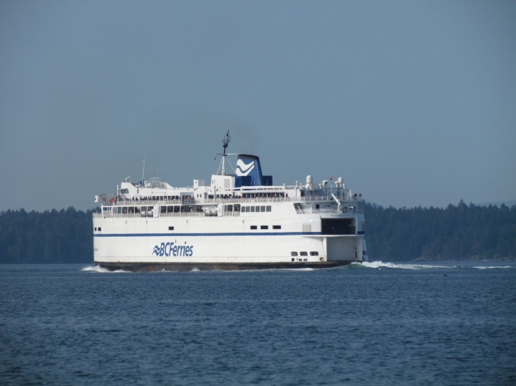 BC ferry leaving Active Pass
