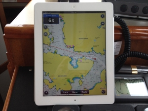Navigation display on the iPad