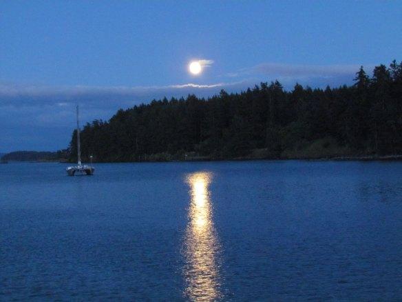Moon at Reid Harbor