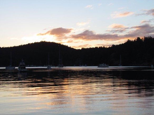 Reid Harbor sunset