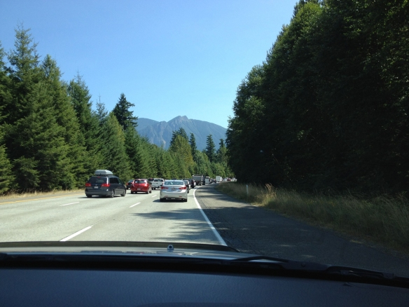 Mt Index overlooks Interstate 90