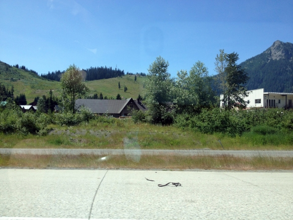 Snoqualmie Pass ski area in the summer