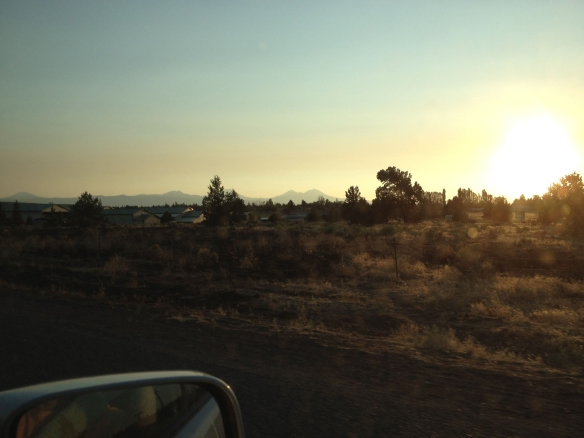 High desert sunset in Bend
