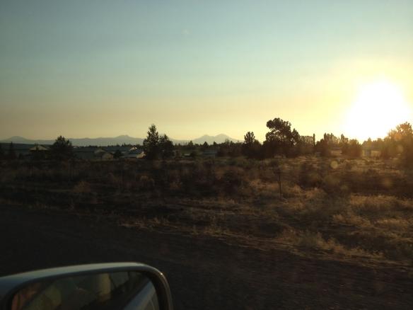 High desert sunset in Bend