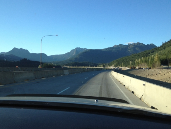 construction at Snoqualmie Pass