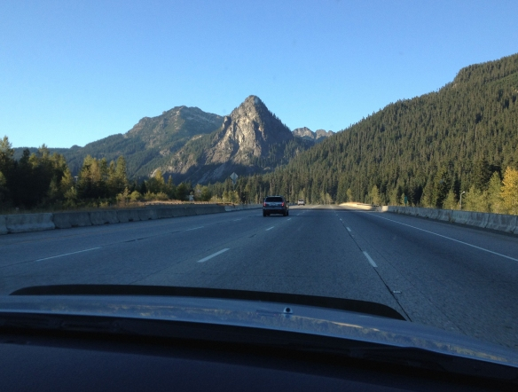 snoqualmie pass looking west