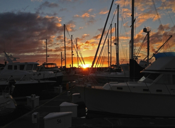 sunrise at anacortes marina