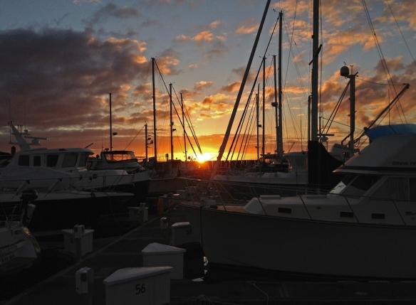 sunrise at anacortes marina