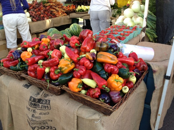 peppers at Ganges Saturday Market