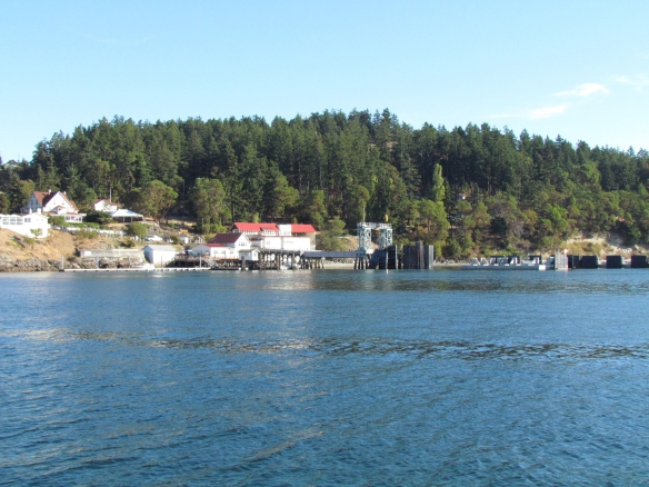 approaching the ferry landing on Orcas Island