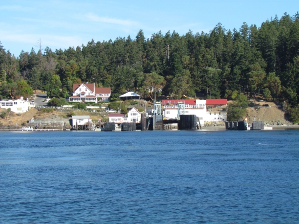 Orcas ferry landing close-up