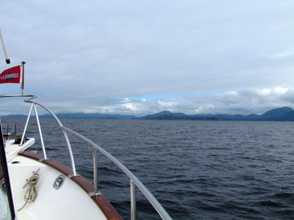 approaching Pender Harbour