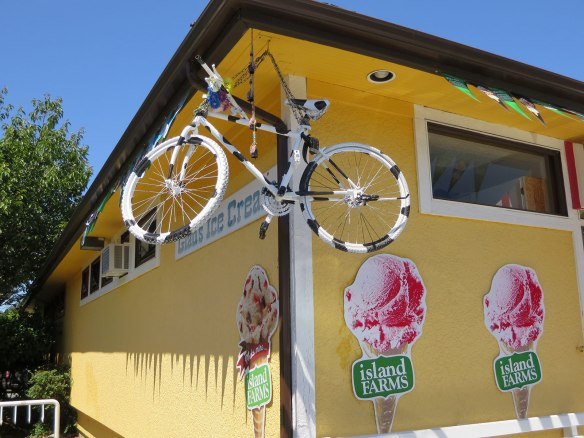 hanging bicycle glads ice cream