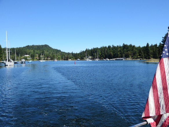 leaving telegraph harbour