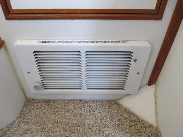 wall heater in bulkhead