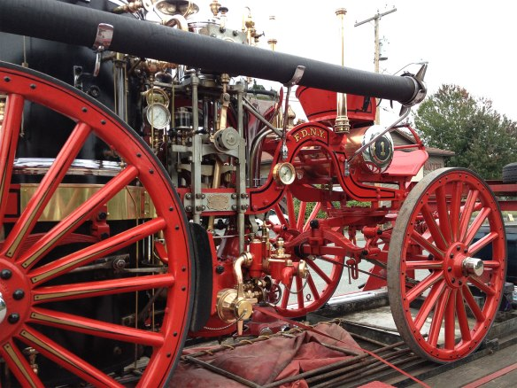 steam fire engine left side