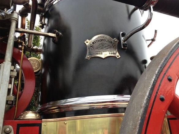 steam fire engine placard