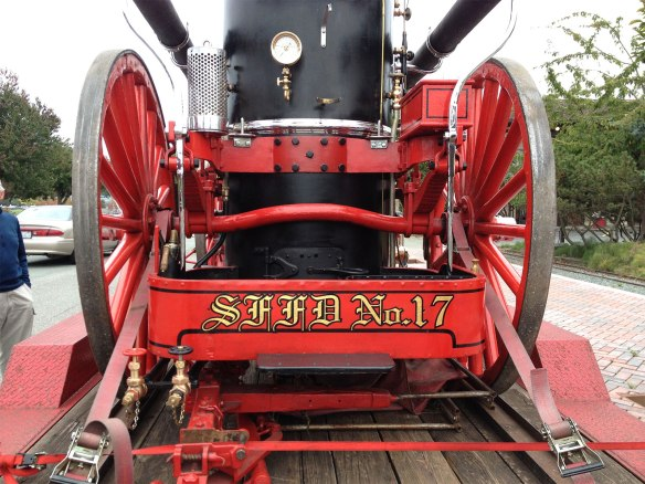 steam fire engine, rear
