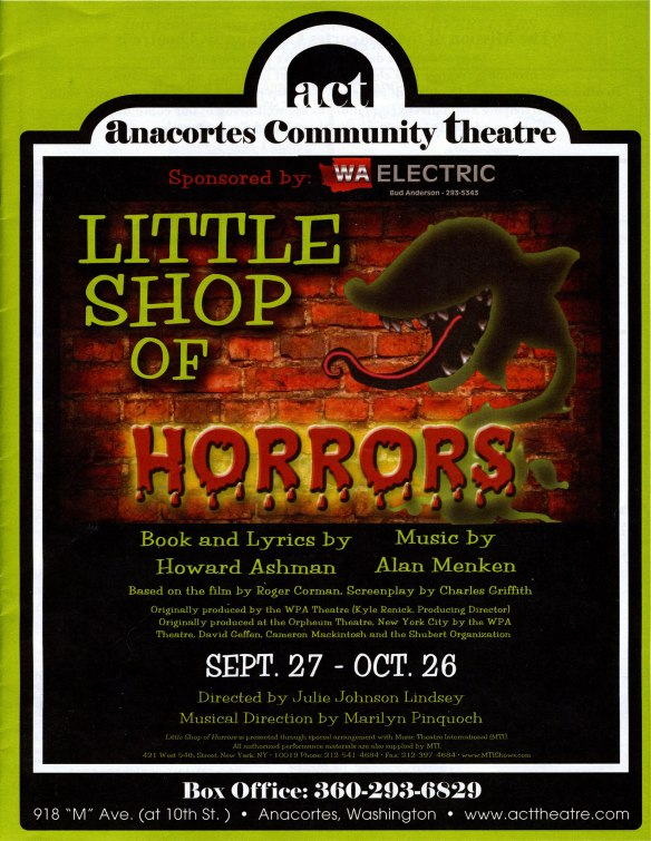 little shop of horrors at Anacortes Community Theatre