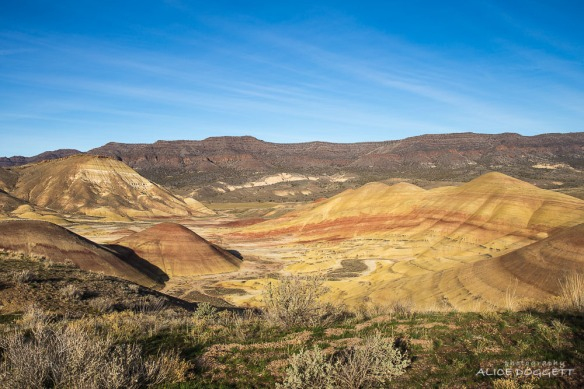 The colorful hills at Painted Hills National Monument in Central Oregon are breathtaking.