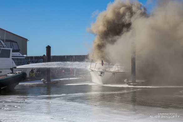 Smoke Anacortes Boat Fire