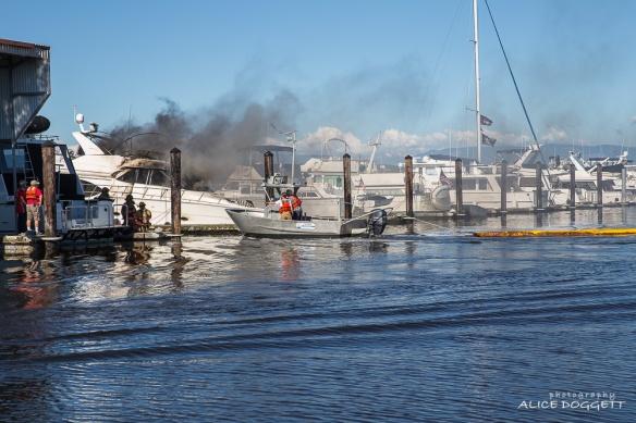 Oil Containment Boom Anacortes Boat Fire
