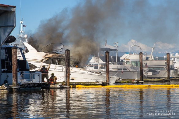 Flames On Anacortes Boat Fire