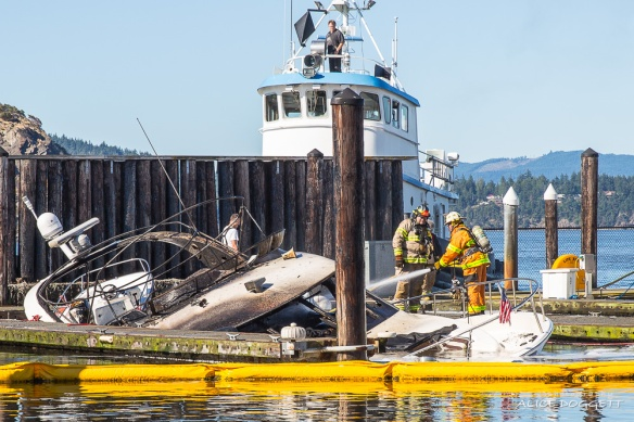 Fireman Anacortes Boat Fire
