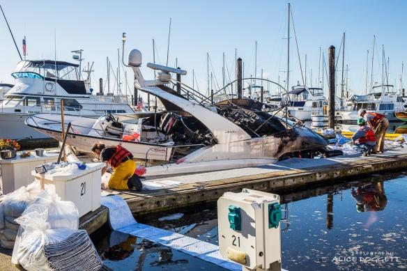 Spilled Fuel Anacortes Boat Fire