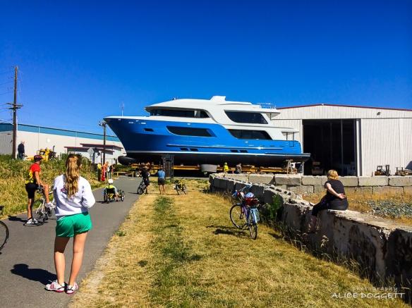 yacht at northern marine facility anacortes