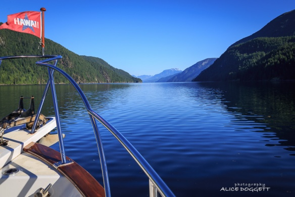 Crusing through Desolation Sound, B.C.