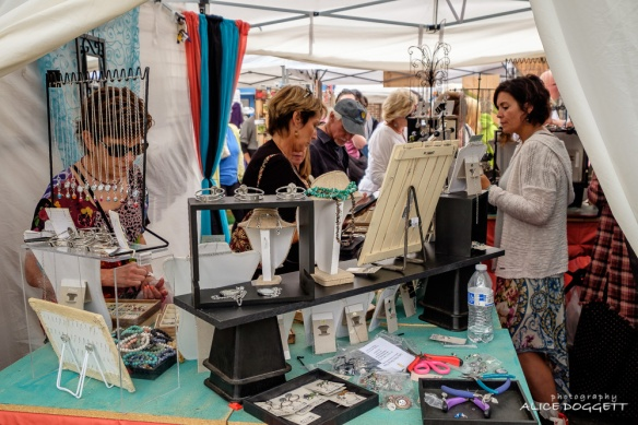 Anacortes Arts Festival - One of many jewelry booths