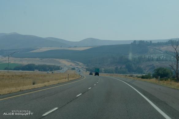 I-82 nearing Yakima